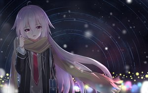 Rating: Safe Score: 112 Tags: crying ia long_hair night pink_eyes pink_hair scarf seifuku stars tears tie vocaloid warg User: luckyluna
