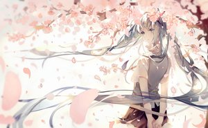 Rating: Safe Score: 198 Tags: aqua_eyes aqua_hair cherry_blossoms flowers hatsune_miku long_hair petals pudding_(8008208820) school_uniform skirt twintails vocaloid User: Flandre93