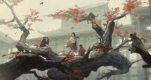 Rating: Safe Score: 76 Tags: animal autumn black_hair building divine_child_of_rejuvenation huanxiang_heitu long_hair sekiro:_shadows_die_twice tree User: RyuZU