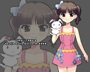 Rating: Safe Score: 6 Tags: blush bow brown_eyes brown_hair bunny doll dress flat_chest gray puppet short_hair tamura_yukari twintails zoom_layer User: Oyashiro-sama