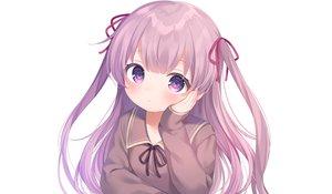 Rating: Safe Score: 24 Tags: blush close komachi_pochi loli long_hair original purple_eyes purple_hair school_uniform twintails white User: otaku_emmy
