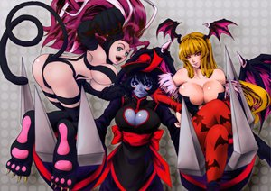 Rating: Safe Score: 94 Tags: ass breasts capcom cleavage darkstalkers felicia lei_lei morrigan_aensland tail wings User: opai