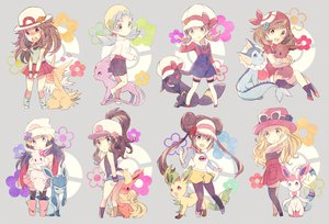 Rating: Safe Score: 206 Tags: blonde_hair blush brown_hair eevee espeon flareon glaceon gray_hair group haruka_(pokemon) hat hikari_(pokemon) jolteon kotone_(pokemon) kris_(pokemon) leafeon leaf_(pokemon) long_hair mei_(pokemon) pokemon ponytail serena_(pokemon) short_hair skirt sylveon thighhighs torute touko_(pokemon) twintails umbreon vaporeon User: FormX