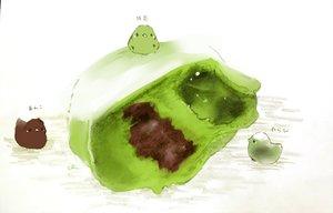 Rating: Safe Score: 26 Tags: animal bird chai_(artist) food original polychromatic User: otaku_emmy