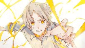 Rating: Safe Score: 23 Tags: all_male gray_hair male omutatsu original ribbons short_hair yellow_eyes User: RyuZU