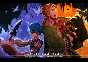 Rating: Safe Score: 9 Tags: all_male blue_eyes blue_hair book brown_hair fate/grand_order fate_(series) feathers glasses gloves hans_christian_andersen kiritachi male short_hair william_shakespeare User: RyuZU