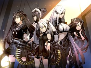Rating: Safe Score: 75 Tags: 6688km agent_(girls_frontline) alchemist_(girls_frontline) destroyer_(girls_frontline) dreamer_(girls_frontline) eyepatch girls_frontline group gun long_hair maid ouroboros_(girls_frontline) thighhighs twintails weapon yellow_eyes User: Nepcoheart