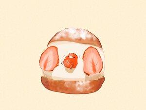 Rating: Safe Score: 10 Tags: animal bird chai_(artist) food fruit nobody original polychromatic signed strawberry User: otaku_emmy
