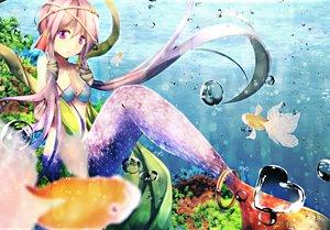 Rating: Safe Score: 174 Tags: animal bikini_top breasts bubbles cleavage fish kagayan1096 long_hair mermaid purple_eyes purple_hair twintails underwater vocaloid voiceroid water yuzuki_yukari User: Flandre93