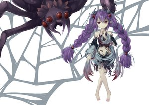 Rating: Safe Score: 97 Tags: a_arrow_z animal anthropomorphism barefoot long_hair navel pointed_ears purple_hair red_eyes traptrix_atrax twintails yu-gi-oh User: Shupa