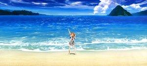 Rating: Safe Score: 63 Tags: barefoot beach clouds hasekura_kasane love_live!_school_idol_project navel orange_hair red_eyes scan scenic seifuku water User: Eagleshadow