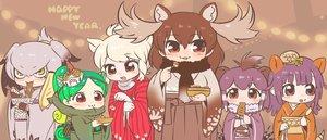 Rating: Safe Score: 15 Tags: animal_ears anthropomorphism blonde_hair brown brown_hair crested_porcupine_(kemono_friends) giant_armadillo_(kemono_friends) gloves gray_hair green_hair japanese_clothes kemono_friends kimono kuro_(kurojill) mask moose_(kemono_friends) panther_chameleon_(kemono_friends) purple_hair red_eyes scarf shoebill_(kemono_friends) white_rhinoceros_(kemono_friends) yellow_eyes User: otaku_emmy