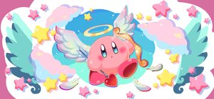 Rating: Safe Score: 18 Tags: angel bow_(weapon) clouds halo kirby kirby_(character) ninjya_palette stars weapon wings User: otaku_emmy