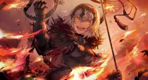 Rating: Safe Score: 92 Tags: armor fate/grand_order fate_(series) fire jeanne_d'arc_alter jeanne_d'arc_(fate) saihate white_hair yellow_eyes User: BattlequeenYume