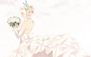 Rating: Safe Score: 55 Tags: aqua_eyes blonde_hair boku_wa_tomodachi_ga_sukunai butterfly cait dress flowers kashiwazaki_sena rose short_hair wedding_attire white User: BattlequeenYume