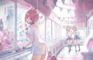 Rating: Safe Score: 75 Tags: hisakawa_hayate hisakawa_nagi idolmaster idolmaster_cinderella_girls roki_(0214278) school_uniform twins yumemi_riamu User: Dreista