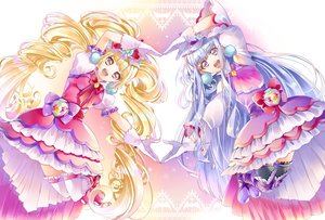Rating: Safe Score: 14 Tags: aisaki_emiru blonde_hair blue_hair bow gloves long_hair lulu_(precure) precure purple_eyes thighhighs twintails yuutarou_(fukiiincho) User: RyuZU
