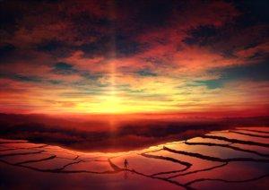 Rating: Safe Score: 96 Tags: animal clouds dog hat landscape mks original scenic sky sunset User: FormX