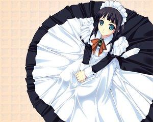 Rating: Safe Score: 15 Tags: black_hair dress maid murakami_suigun tagme User: Oyashiro-sama
