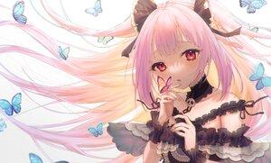 Rating: Safe Score: 32 Tags: butterfly close cropped hololive long_hair modoki_kuma purple_hair red_eyes uruha_rushia User: BattlequeenYume