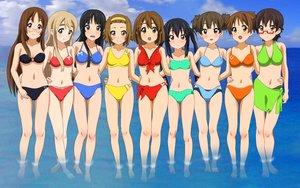 Rating: Safe Score: 100 Tags: akiyama_mio bikini black_hair blonde_hair blush brown_eyes brown_hair glasses group headband hirasawa_ui hirasawa_yui k-on! kotobuki_tsumugi manabe_nodoka nakano_azusa navel rm suzuki_jun swimsuit tainaka_ritsu water yamanaka_sawako User: gnarf1975