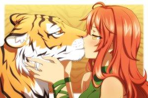 Rating: Safe Score: 165 Tags: animal kiss original tiger vioka User: FormX
