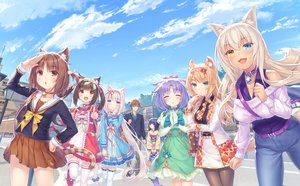 Rating: Safe Score: 32 Tags: animal_ears azuki_(sayori) bell bicolored_eyes brown_hair catgirl chocola_(sayori) cinnamon_(sayori) clouds coconut_(sayori) collar dark_skin dress game_cg group loli lolita_fashion long_hair male maple_(sayori) minazuki_kashou minazuki_shigure nekopara neko_works orange_hair purple_hair sayori school_uniform sky tail twintails vanilla_(sayori) white_hair User: BattlequeenYume