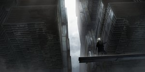 Rating: Safe Score: 70 Tags: asuteroid building city clouds long_hair original ruins scenic sky techgirl white_hair User: BattlequeenYume