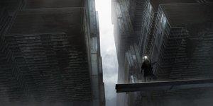 Rating: Safe Score: 99 Tags: asuteroid building city clouds iz_(asuteroid) long_hair original ruins scenic sky techgirl white_hair User: BattlequeenYume
