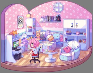 Rating: Safe Score: 31 Tags: aqua_eyes bed book chibi computer doll drink food game_console hyanna-natsu original overwatch pink_hair short_hair shorts transparent watermark User: otaku_emmy