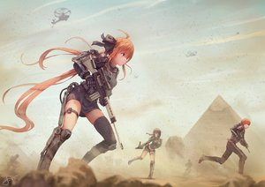 Rating: Safe Score: 251 Tags: anthropomorphism aqua_eyes fal_(girls_frontline) girls_frontline gun jay_xu long_hair mac-10_(girls_frontline) male military orange_hair ribbons signed weapon User: RyuZU