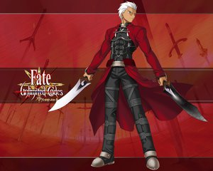 Rating: Safe Score: 30 Tags: all_male archer fate_(series) fate/stay_night fate/unlimited_codes male sword weapon User: HawthorneKitty