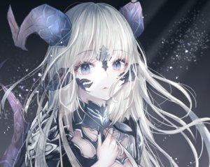 Rating: Safe Score: 146 Tags: armor au_ra blue_eyes close cropped final_fantasy final_fantasy_xiv horns long_hair sakura_mochiko tail white_hair User: BattlequeenYume