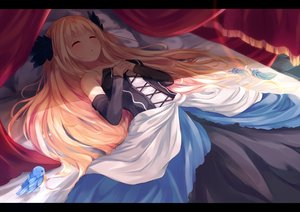 Rating: Safe Score: 141 Tags: animal bed bird blonde_hair blush dress feathers gwendolyn igakusei long_hair odin_sphere shade sleeping User: Flandre93