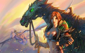 Rating: Safe Score: 282 Tags: animal dragon horse red_eyes red_hair short_hair sky world_of_warcraft yao_ren User: Tensa