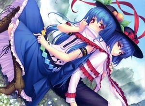 Rating: Safe Score: 84 Tags: 2girls blue_hair hat hinanawi_tenshi nagae_iku sayori touhou User: Wiresetc