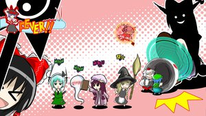 Rating: Safe Score: 23 Tags: animal_ears black_hair blonde_hair blue_hair book dress flandre_scarlet gray_hair green_eyes hakurei_reimu hat horns ibuki_suika inubashiri_momiji japanese_clothes jpeg_artifacts kawashiro_nitori kirisame_marisa konpaku_youmu long_hair miko myon nagae_iku parody patapon patchouli_knowledge purple_hair ribbons short_hair silhouette sword tail touhou vampire weapon wings witch wolfgirl yellow_eyes User: w7382001