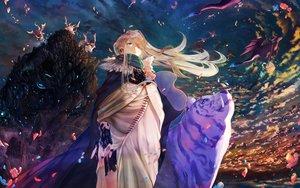 Rating: Safe Score: 44 Tags: blonde_hair blue_eyes dragon maki_takaya original sky User: Flandre93