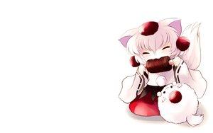 Rating: Safe Score: 25 Tags: animal_ears chibi food hat inubashiri_momiji tail touhou white wolfgirl yume_shokunin User: SciFi