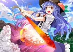 Rating: Safe Score: 48 Tags: hinanawi_tenshi tagme_(artist) touhou User: RyuZU