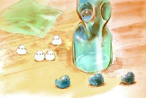 Rating: Safe Score: 28 Tags: animal bird chai_(artist) drink original sketch User: otaku_emmy