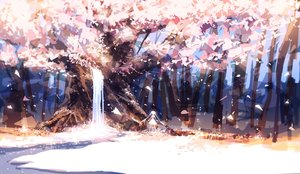 Rating: Safe Score: 184 Tags: forest leaves original petals prophet_heart tree twintails water waterfall User: FormX