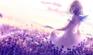 Rating: Safe Score: 76 Tags: dress flowers lluluchwan ohana_(lluluchwan) original purple_hair signed User: BattlequeenYume
