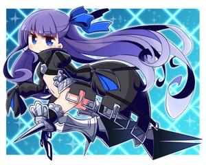 Rating: Safe Score: 21 Tags: armor blue_eyes bow fate/grand_order fate_(series) flat_chest long_hair meltlilith_(fate) naga_u nopan purple_hair User: otaku_emmy