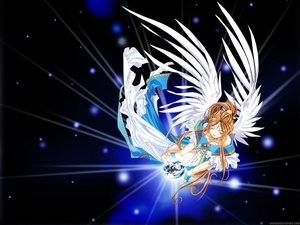 Rating: Safe Score: 10 Tags: aa_megami-sama belldandy brown_hair feathers long_hair wings User: 秀悟