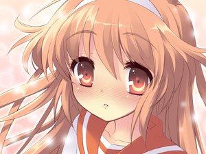 Rating: Safe Score: 11 Tags: alice_parade blush brown_eyes brown_hair close headband hitorimeno_alice long_hair unisonshift User: Oyashiro-sama