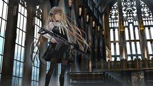Rating: Safe Score: 142 Tags: brown_eyes brown_hair dress gothic gun long_hair original pantyhose swav weapon User: BattlequeenYume