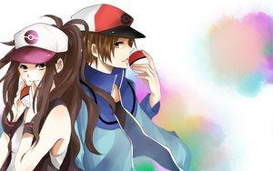 Rating: Safe Score: 55 Tags: blue_eyes brown_hair hat long_hair pokemon ponytail short_hair touko_(pokemon) touya User: Katsumi