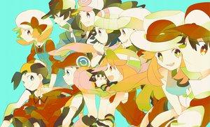 Rating: Safe Score: 45 Tags: hagiko haruka_(pokemon) hat hibiki hikari_(pokemon) koki kotone_(pokemon) leaf_(pokemon) pokemon touko_(pokemon) touya yuuki_(pokemon) User: c86