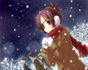 Rating: Safe Score: 37 Tags: dokuro_chrome group katekyou_hitman_reborn male rokudou_mukuro snow User: HawthorneKitty